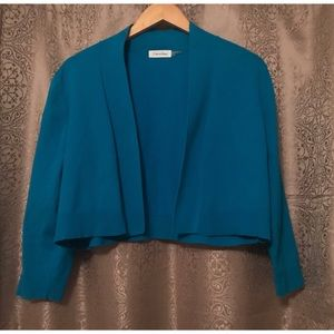 Calvin Klein 3/4 Sleeve Cropped Cardigan Size L